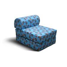 Black Children's Foam Sleeper Chair