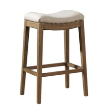 Linen Backless Counter Stool