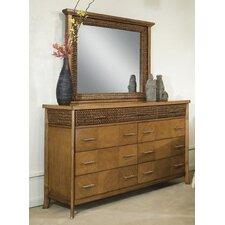 Hamptons 9 Drawer Dresser with Mirror