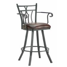 "Randle 26"" Swivel Bar Stool with Cushion"