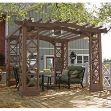 Arched Roof 12 Ft. W x 14 Ft. D Cedar Pergola Kit