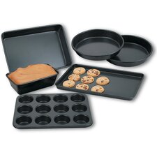 Heavy Gauge Nonstick 6 Piece Bakeware Set