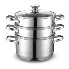 4 Piece Stainless Steel Multi Pot Set