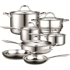 12-Piece Multi-Ply Clad Stainless-Steel Cookware Set