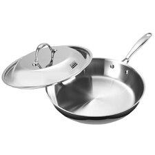 Multi-Ply Clad Stainless-Steel 12-Inch Fry Pan with Dome Lid