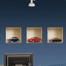 3D Effect Model Car Wall Mural