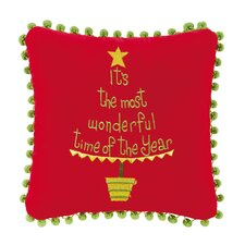 It's the Most...Embroidered Throw Pillow (Set of 2)