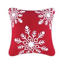 Snowflakes Rice Stitch Throw Pillow