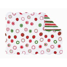 Reversible Christmas Bubbles Quilted Placemat (Set of 6)