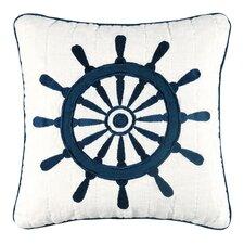 Nantucket Dream Ship's Wheel Quilt Cotton Throw Pillow