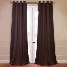 Plush Grommet Blackout Curtain Pair (Set of 2)