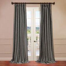 Yarn Dyed Faux Dupioni Silk Single Curtain Panel