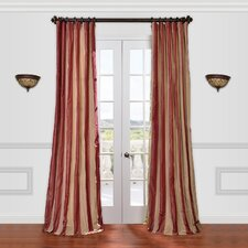 Rialto Faux Silk Taffeta Stripe Single Curtain Panel