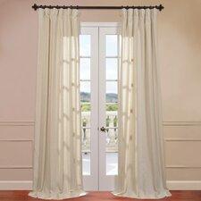 Lanai Linen Blend Stripe Single Curtain Panel