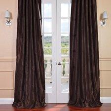 Vintage Textured Faux Dupioni Rod Pocket Single Curtain Panel