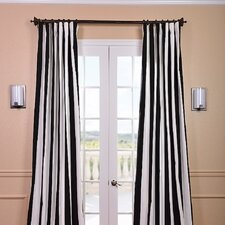 Cabana Printed Cotton Rod Pocket Single Curtain Panel