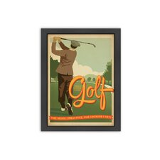 Golf Lucky Framed Vintage Advertisement