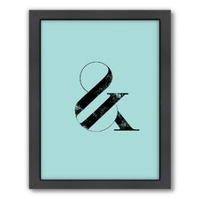 Motivated Ampersand Framed Textual Art in Blue