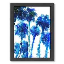 Trees by Suren Nersisyan Framed Painting Print in Blue