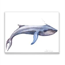 Blue Whale Painting Print on Wrapped Canvas
