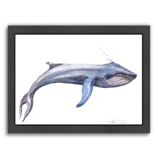 Blue Whale Framed Painting Print