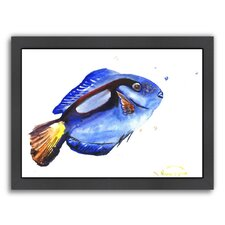 Blue Coral Fish Framed Painting Print