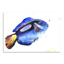 Coral Fish by Suren Nersisyan Painting Print in Blue