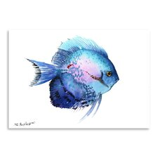 Discus 2 by Suren Nersisyan Painting Print in Blue