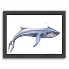 Whale by Suren Nersisyan Framed Painting Print in Blue