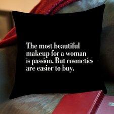 The Most Beautiful Makeup Throw Pillow