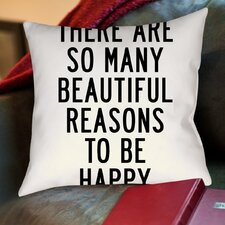 Beautiful Reasons Throw Pillow
