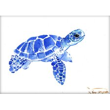 Tortoise 2 by Suren Nersisyan Painting Print in Blue