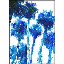 Trees by Suren Nersisyan Painting Print in Blue