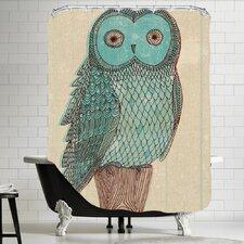 Owl Monotone Shower Curtain