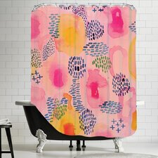 Water Color Patterns Shower Curtain
