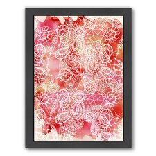 Urban Road Lace Red Framed Graphic Art