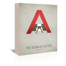 The Scarlet Letter Minimal Gallery Wrapped Canvas Wall Art
