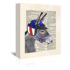 Eli Wonder Donkey Graphic Art on Wrapped Canvas