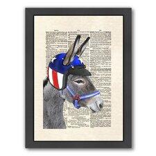 Eli Wonder Donkey Framed Graphic Art