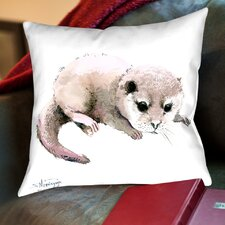 Baby Otter Throw Pillow