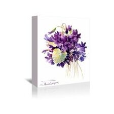 Wild Violets Painting Print on Wrapped Canvas