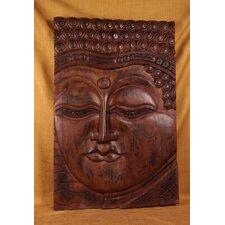 Wood Panels Buddha Eyes Open Wall Décor