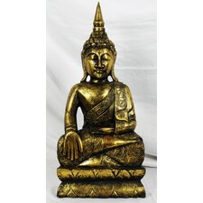 Wood Carvings Brass Series Thai Buddha Statue