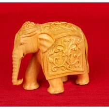 Wood Carvings Elephant Figurine