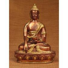 Brass Series Medicine Buddha with Carving Figurine