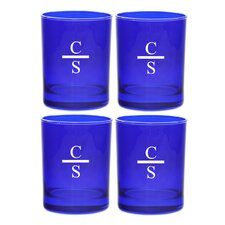 Gem Sapphire Personalized 13.25 Oz. Old Fashion Glass (Set of 4)