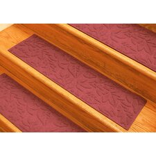 Aqua Shield Solid Red Fall Day Stair Tread (Set of 4)