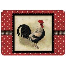Premium Comfort Polka Dot Speckled Rooster Mat