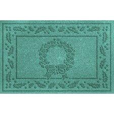 Aqua Shield Wreath Doormat