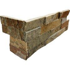 Random Sized Natural Stone Splitface Tile in Amber Falls